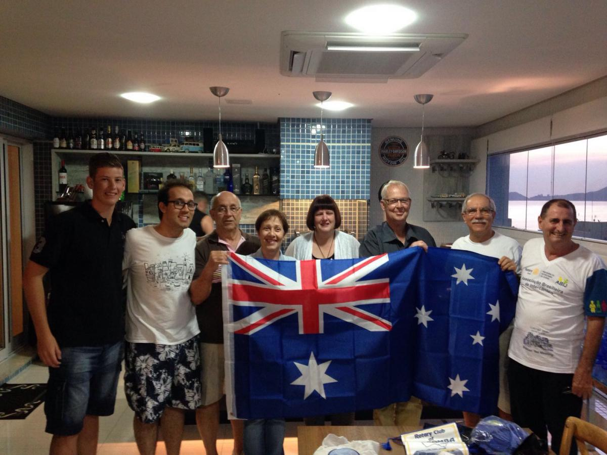 Santos Brazil and Katoomba Australia club goodwill visit